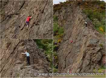 Two boys spotted climbing high up Edinburgh rock face 'without any safety equipment' - Edinburgh News