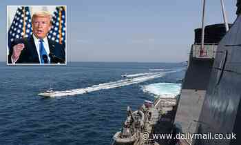 U.S. Navy issues warning to Iranians not to come within 100 meters of its warships or be fired upon