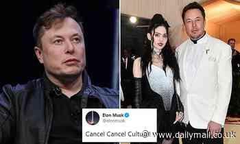 Elon Musk tweets 'cancel cancel culture' amid Twitter feud with Grimes' mom