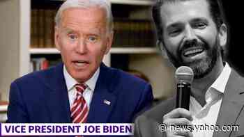 'It's sick': Biden blasts Trump Jr.'s pedophilia 'joke'