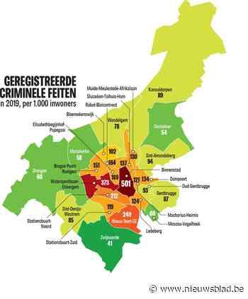 Nieuwe politiecijfers tonen criminaliteit in elke Gentse wijk