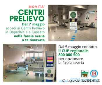 Centri prelievo in ospedale e a Cossato da giovedì si accede solo con la prenotazione dell'orario di ingresso - La Provincia di Biella