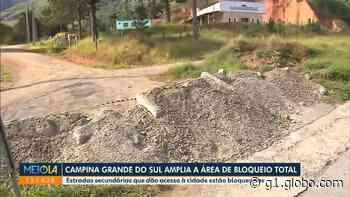 Coronavírus: Estradas de acesso a bairros de Campina Grande do Sul são bloqueadas e movimentação de moradores é restrita - G1