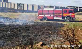 Mais uma vez, incêndio atinge entorno de obra de estádio em Ituiutaba e CBMMG é acionado - Pontal Emfoco