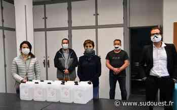 Mourenx : le centre social reçoit un don de 50 litres de gel hydroalcoolique - Sud Ouest