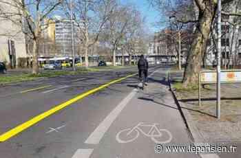 28 km de pistes cyclables temporaires à Cergy-Pontoise et Argenteuil - Le Parisien