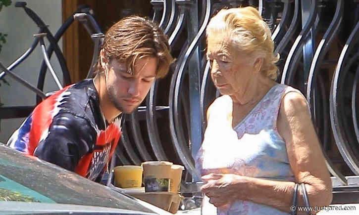 Cameron Dallas Picks Up Iced Drinks with His Grandma