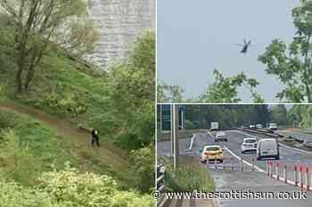 Police helicopter and officers search River Clyde after concern for a person report near Erskine Bridge - The Scottish Sun