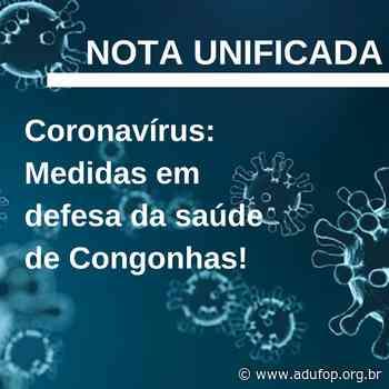 Coronavírus: Medidas em defesa da saúde de Congonhas! - Adufop
