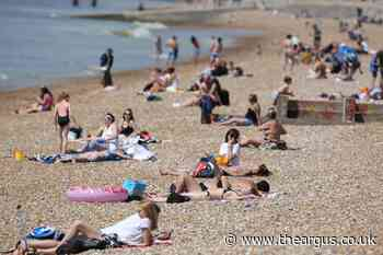 Brighton: Pictures from beach after lockdown ease