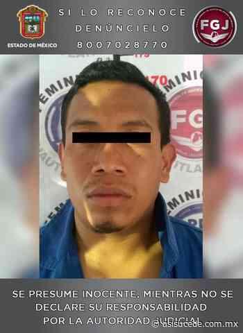 En Zumpango, capturan a presunto feminicida - Noticiario Así Sucede