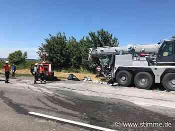 A6 bei Neuenstein nach Unfall gesperrt - STIMME.de - Heilbronner Stimme