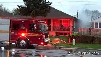Elderly woman injured, dog killed following house fire in North York - CP24 Toronto's Breaking News