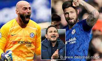 Willy Caballero and Olivier Giroud become the first Chelsea players to have their contracts extended
