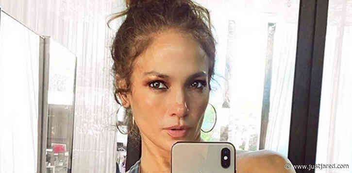 Fans Noticed Something Unusual in the Background of Jennifer Lopez's Gym Selfie