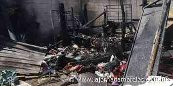 Incendio en Jojutla deja sin hogar a una Mujer - La Jornada Morelos