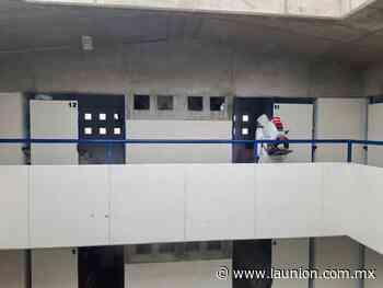 Realizan sanitización del centro penitenciario de Jojutla - Unión de Morelos