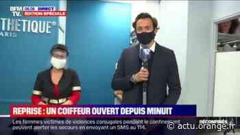 Déconfinement: ce salon de coiffure de Clichy, dans les Hauts-de-Seine, est ouvert depuis minuit - Actu Orange