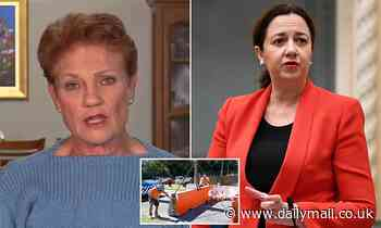 Pauline Hanson threatens to take 'lawless' Queensland to court for refusing to open up the borders