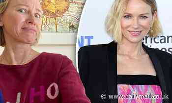 Age-defying and makeup free Naomi Watts, 51, shows off her flawless complexion - Daily Mail