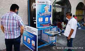 Instalan 28 lavamanos en todo Atlixco - El Popular