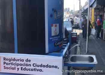 En Atlixco desaprovechan uso de lavamanos públicos contra Covid-19 - Municipios Puebla