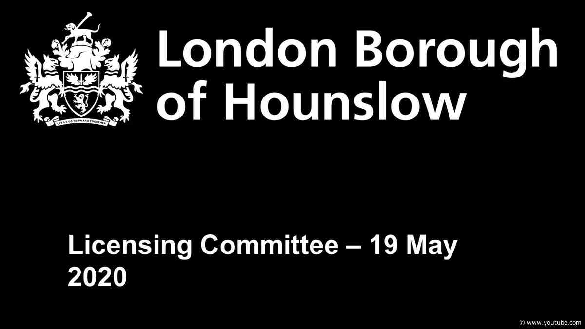 Licensing committee - 19 May 2020