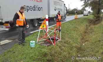 Les travaux sur les routes du secteur d'Epernay ont repris - L'Union