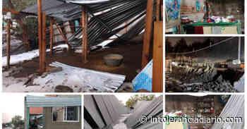 Fotos: Tras granizada, 70 viviendas resultaron afectadas en Acajete - Intolerancia Diario