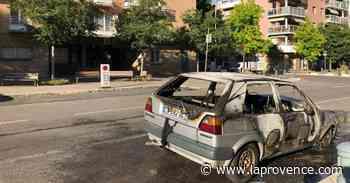 Vidéo : un véhicule prend feu à Aix-en-Provence - La Provence