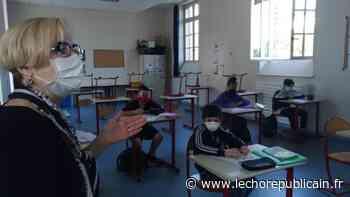 """Evelyne Mège, directrice académique en visite au collège Camus à Dreux : """"L'école inclusive n'a jamais cessé de fonctionner"""" - Dreux (28100) - Echo Républicain"""