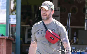 Tom Hardy Wears a Knee Brace While Taking Dog to Vet's Office - Just Jared