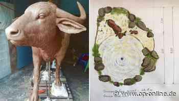 Wieder Zoff um Wasserbüffel-Skulpturen auf Rathausplatz - Modelle kommen gut an - op-online.de