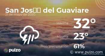 El clima para hoy en San José del Guaviare, 21 de mayo de 2020 - Pulzo