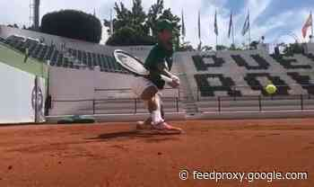 Novak Djokovic shows he's still got it with stunning athleticism - video