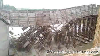 On cam: Under-construction bridge collapses in Odisha's Balasore
