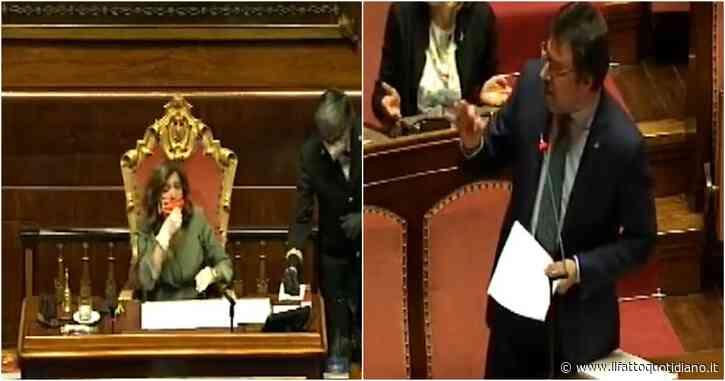 """Fase 2, brusio in Aula durante discorso Salvini. Lui a M5s-Pd: """"Andate a ridere a Villa Borghese"""". E Casellati interviene: """"Rispettate opinioni, zitti"""""""
