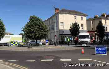 Police incident on Seven Dials roundabout, Brighton