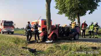 Frontal gegen Baum: Autofahrer lebensgefährlich verletzt - WDR Nachrichten