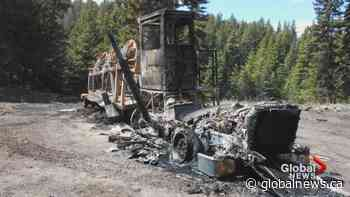 Heavy equipment destroyed on Trans Mountain pipeline expansion site near Merrit