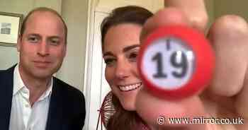 William and Kate can't stop smiling in new job as bingo callers