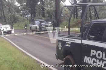 Encuentran cadáver baleado en la entrada a Arroyo Colorado, en Uruapan - La Voz de Michoacán