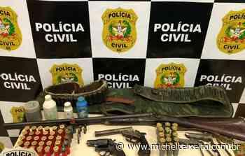 Armas e munições são apreendidas pela Polícia Civil em Curitibanos - Michel Teixeira