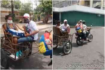 Salió de hospital de Barinas en una silla de mimbre remolcada por moto - Diario El Vistazo