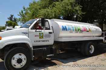 Garantiza Ayuntamiento de Matehuala suministro de agua a comunidades necesitadas - Código San Luis