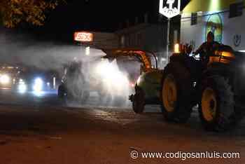 Sanitizan las principales calles de Matehuala - Código San Luis