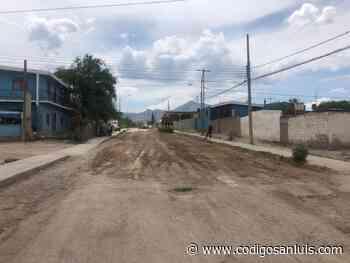 Inician pavimentación de la calle Camino Viejo a la Paz en Matehuala - Código San Luis