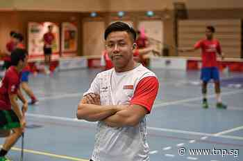 National men's floorball coach Lim Jin Quan wears an extra hat - The New Paper