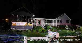 An overnight blaze in St. Leonard destroys garage, two vehicles - The Southern Maryland Chronicle