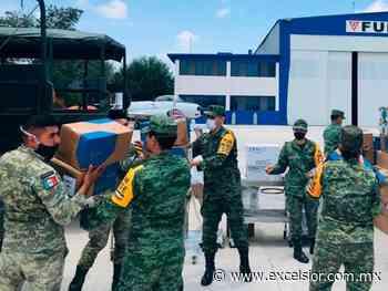 Llegan caretas, cubrebocas… a hospital militar de Irapuato - Excélsior